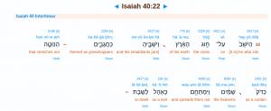 Bibelstelle Jesaja 40,22